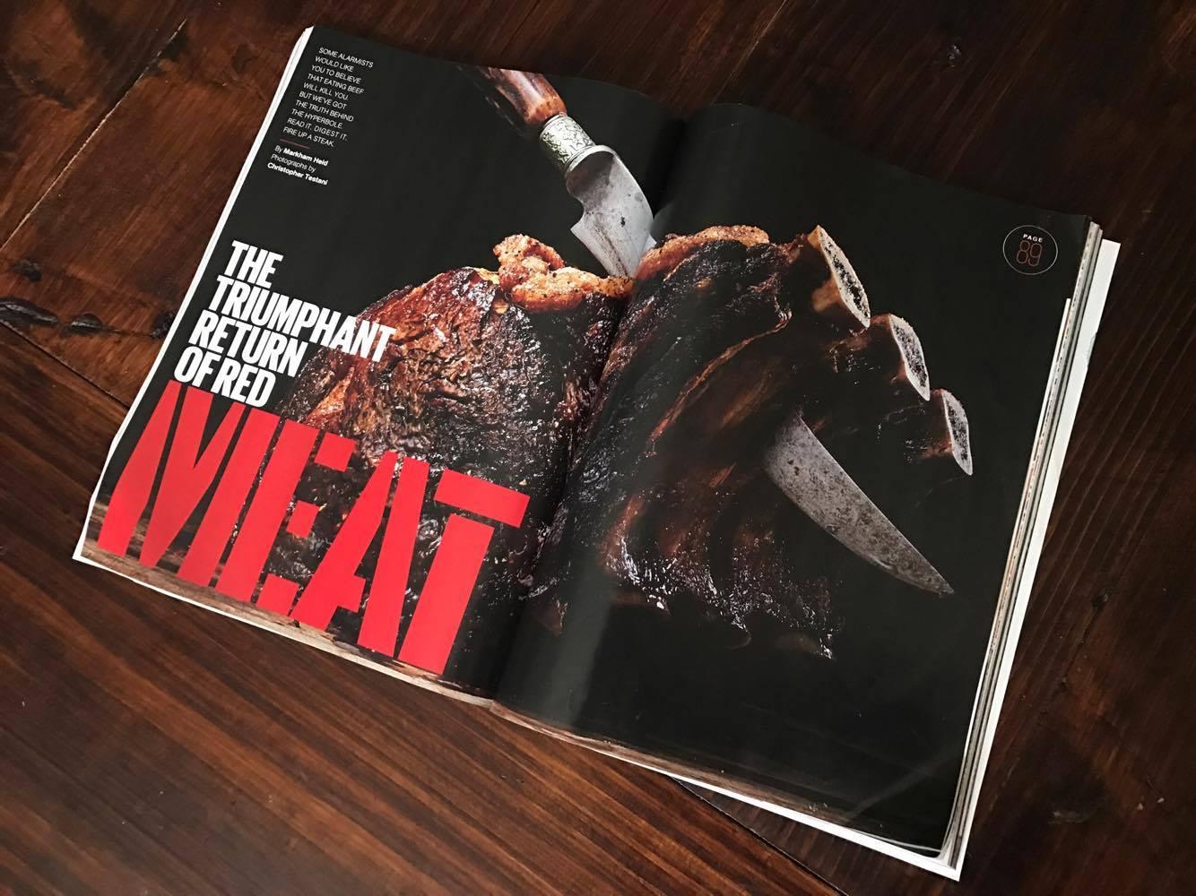 mens health magazine proclaims beef s triumphant return beef magazine. Black Bedroom Furniture Sets. Home Design Ideas