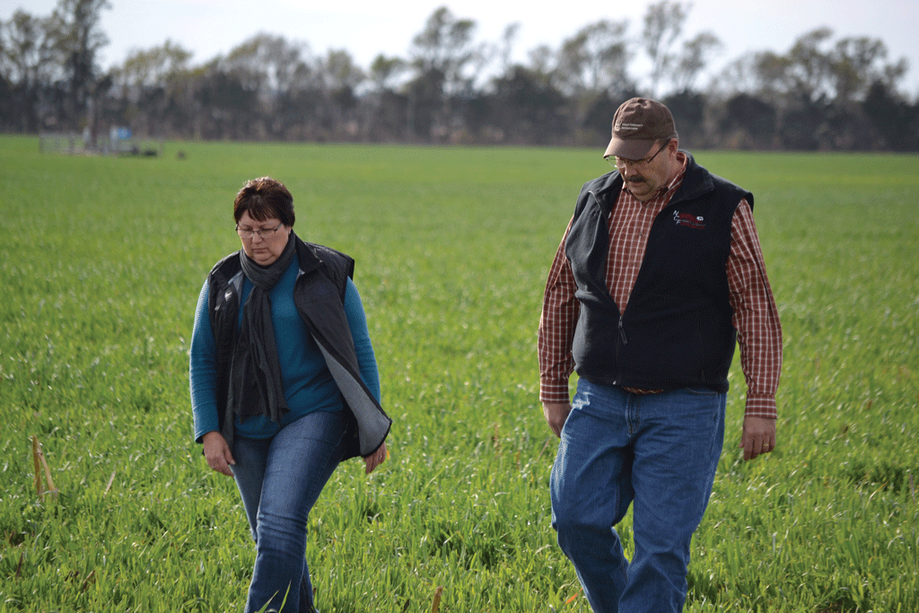 Craig Uden and his wife, Terri, make a strong team. With Uden volunteering much of his time on behalf of the cattle business, he says Terri is the stability that keeps everything running smoothly. Photo courtesy of NCBA