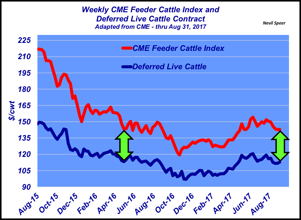 Awesome Thus Far In 2017, The Difference Between Feeder Cattle And Deferred Fed Has  Been Hovering In