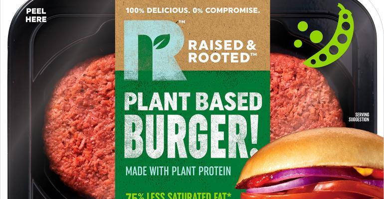 Raised Rooted Plant Based Burger