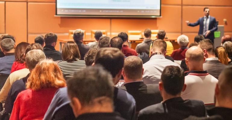meeting room full of people