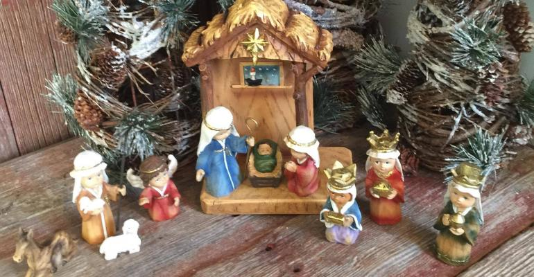Toy Nativity Scene