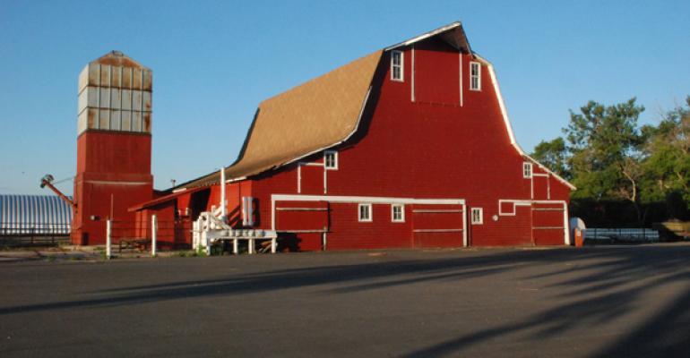 red barn at a ranch