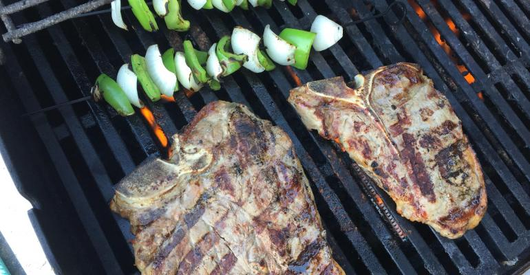 Grilling beef