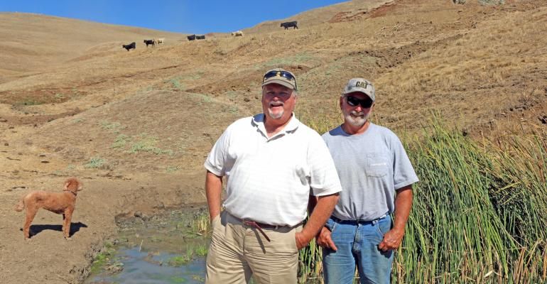 Tom Sparling (left) and Ed Sparling (right) are among more than six generations of Sparling family members who have run Sparling Ranch near Hollister, Calif., since the turn of the century.