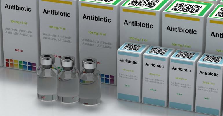 Boxes of antibiotic vials