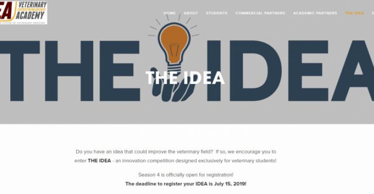 VEA IDEA landing page