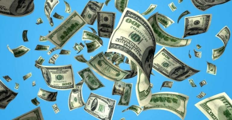Falling Money Cash