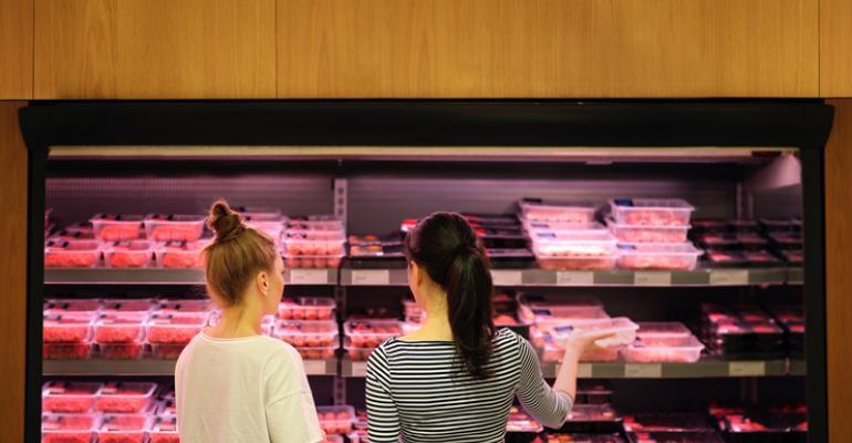 Women buying beef
