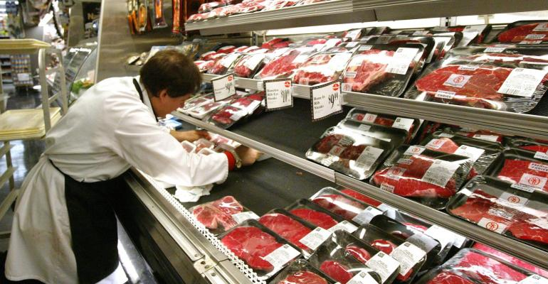 traditional retail meat case