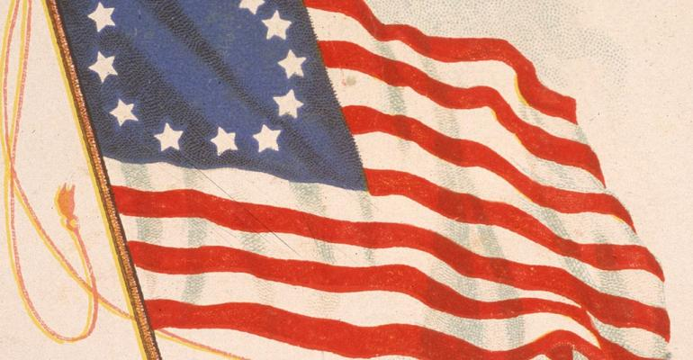 The flag of our Founding Fathers