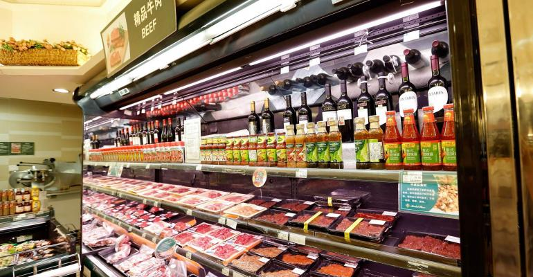 Asian meat counter