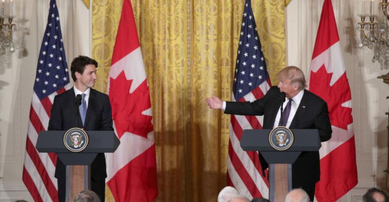 Donald Trump Hosts Canadian PM Justin Trudeau