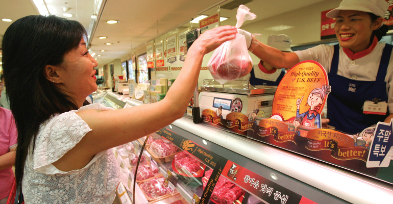 Buying meat in China