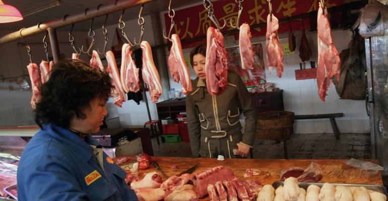 Chinese pork market