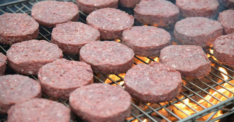 Beef on the grill