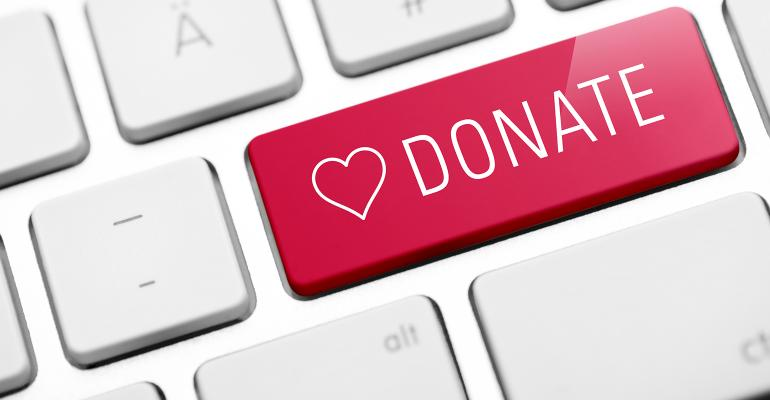 """red """"donate"""" key"""