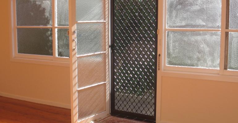 Open main door with screen door only