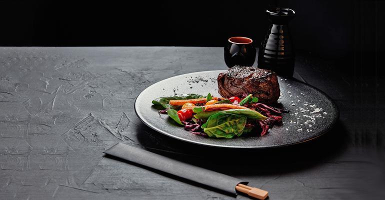 beef steak in teriyaki sauce