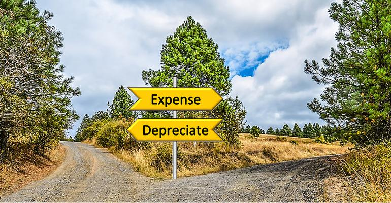 Expense/depreciate road sign