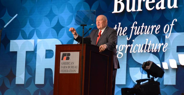 USDA Secretary Sonny Perdue addresses the AFBF Convention.