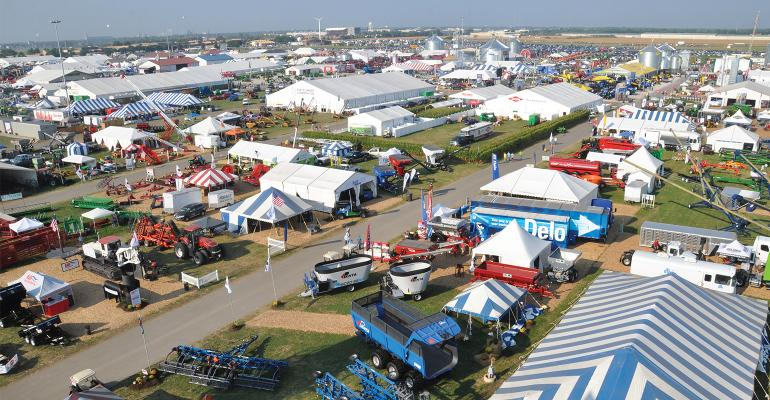 Overhead view of the Farm Progress Show.
