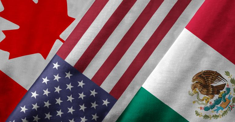 Canadian, U.S. and Mexican flag