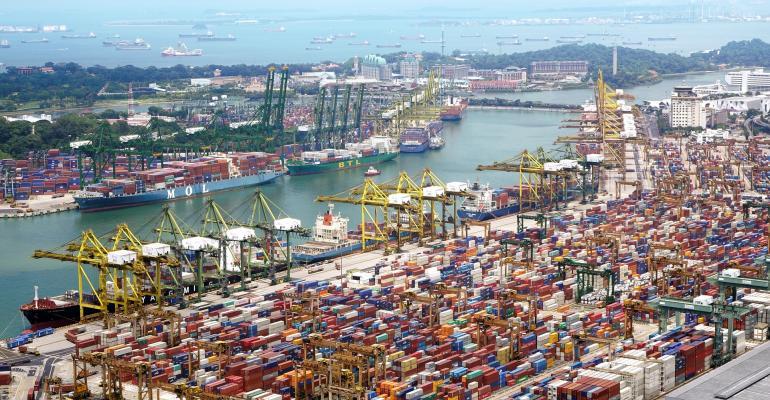 cargo at port
