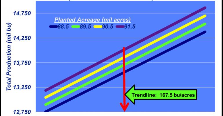 Corn crop production outlook