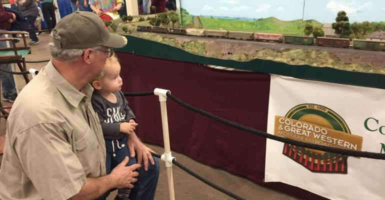 Admiring model trains