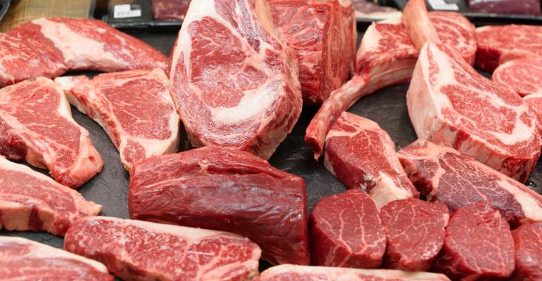 Cuts of raw beef