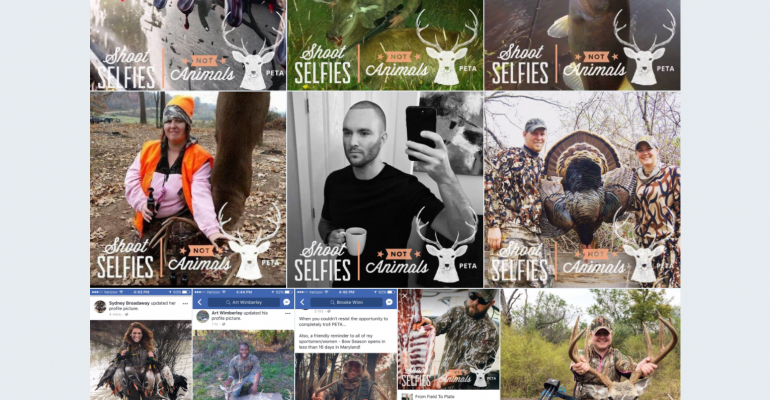 "PETA's ""Shoot Selfies, Not Animals"" Campaign"