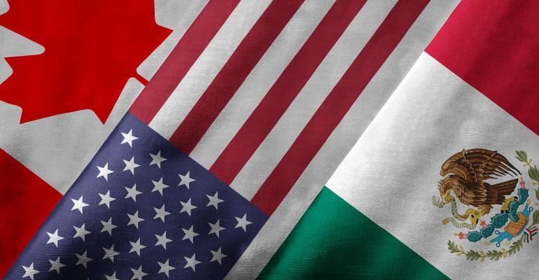 USMCA Flags - United State, Mexico, Canada