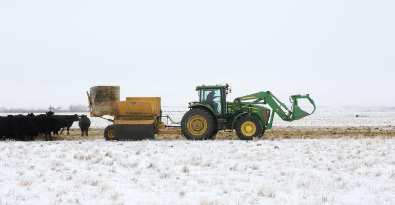 Vermeer FPX9000 working in winter field