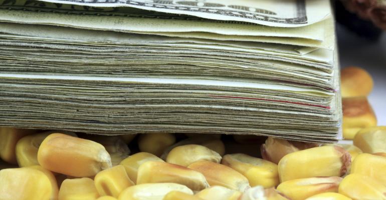 corn and money