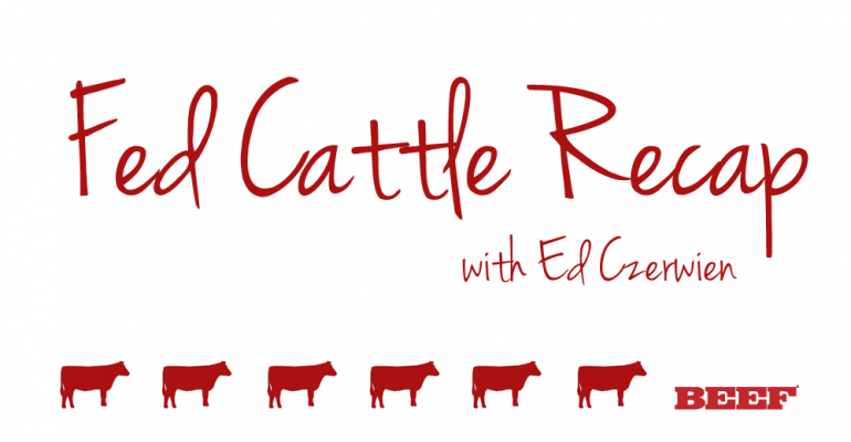 Weekly Fed Cattle Recap
