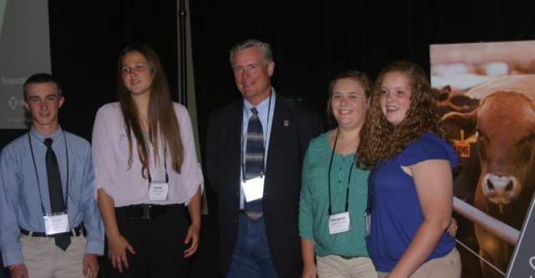 4H winers at Cattle Feeders Business Summit