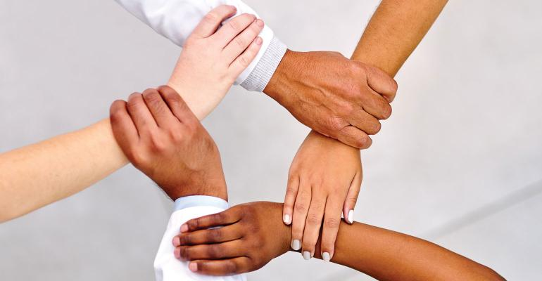 Graphic of hands interlocked