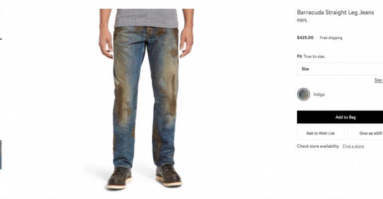 Nordstroms Muddy Jeans