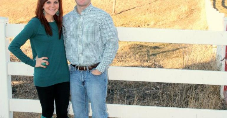 Tyler and I at our ranch in South Dakota on Christmas Day