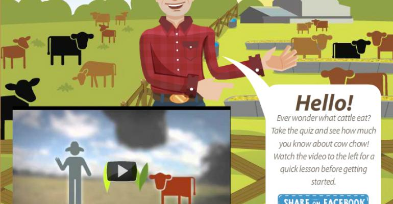 Forget Facebook FarmVille, Explore Checkoff Cow Chow Game
