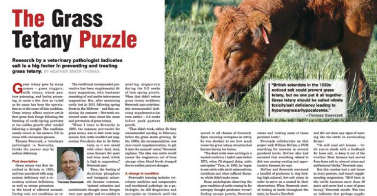 Specialists Refute Grass Tetany/Salt Article