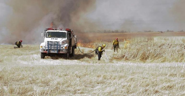 South Dakota Prescribed Burning scene