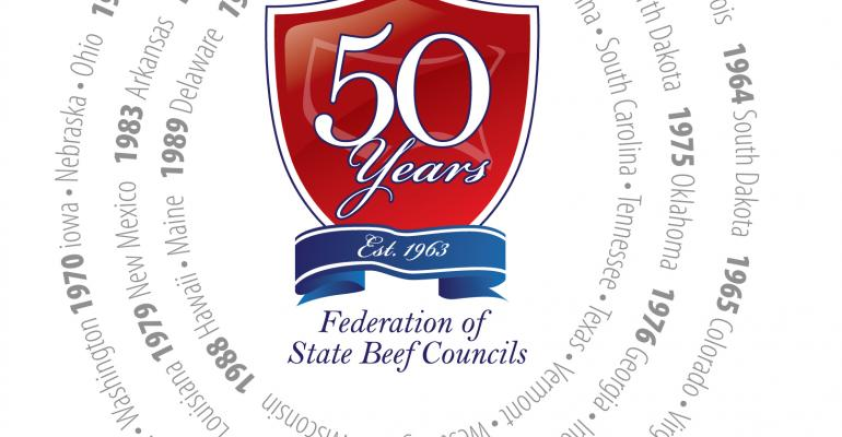 50 years federation of state beef councils