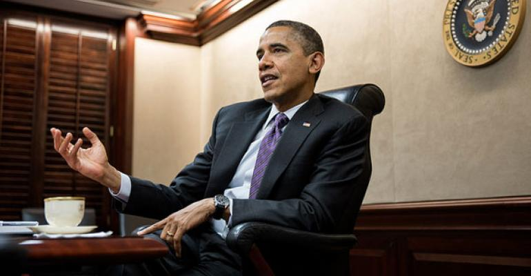 President Obama Second Term Photo from White House Press