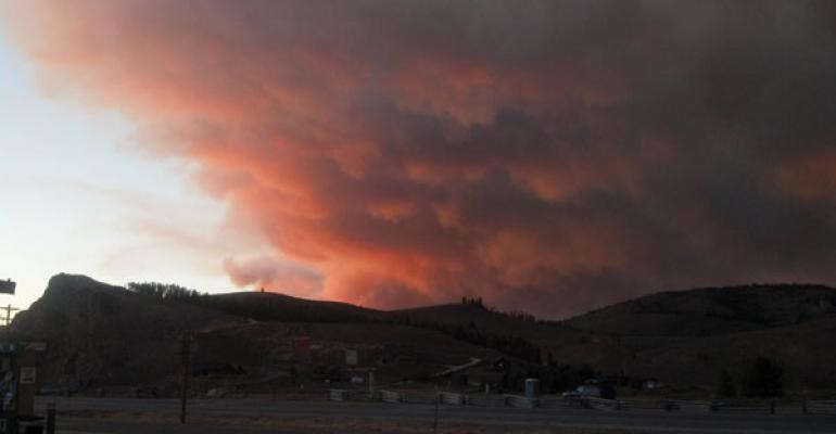 wildfire in western ranching states