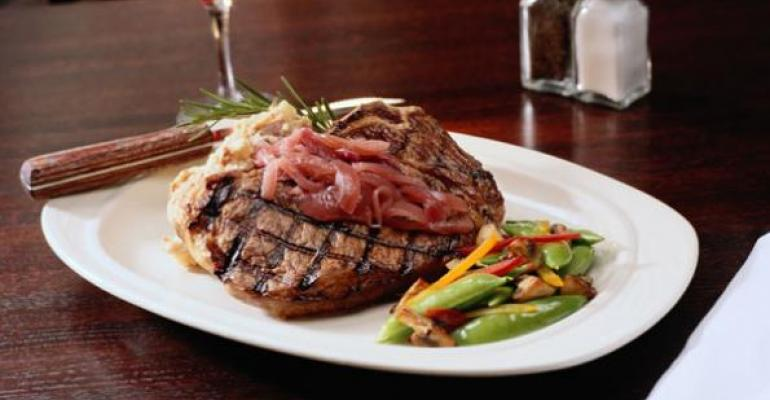 cost to buy a steaks rise in restaurants