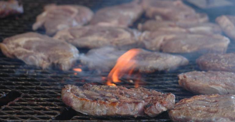 steaks grilling