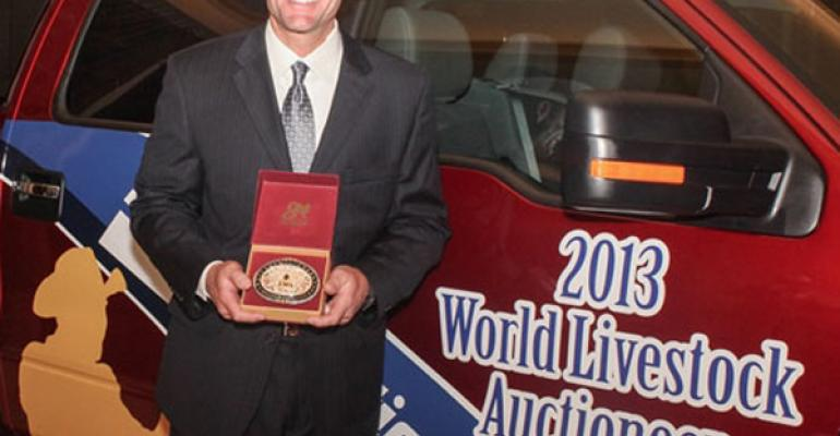 Dustun Focht World Livestock Auctioneer Champion