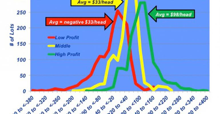feedyard closeout returns cattle profits